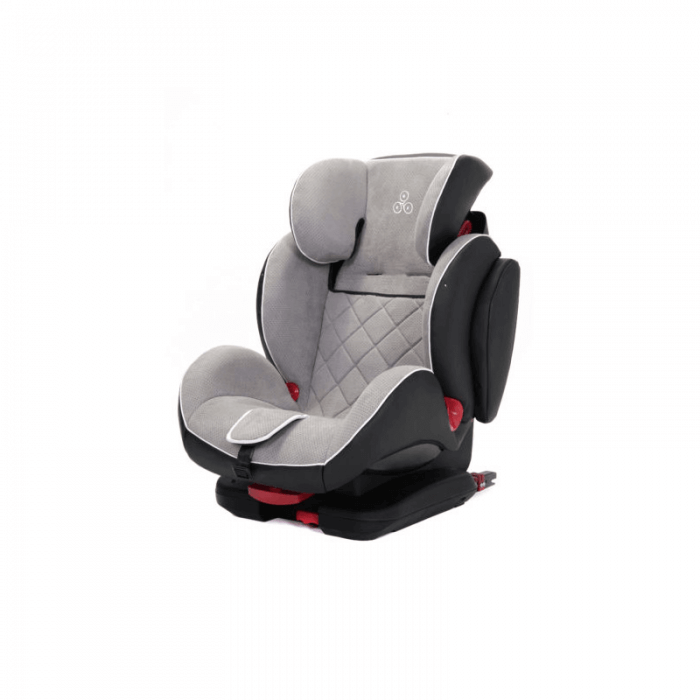 Ickle Bubba Solar Group 1/2/3 Car Seat - Light Grey - Side
