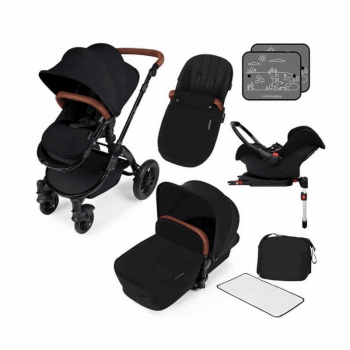 Ickle Bubba Stomp V3 All-In-One Travel System & Isofix Base - Black / Black