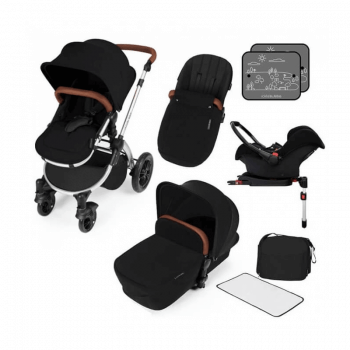 Ickle Bubba Stomp V3 All-In-One Travel System & Isofix Base - Black / Silver
