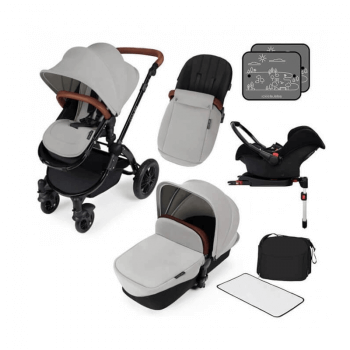 Ickle Bubba Stomp V3 All-In-One Travel System & Isofix Base - Silver / Black