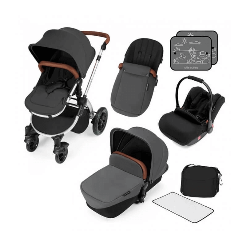 Ickle Bubba Stomp V3 All-In-One Travel System - Graphite Grey / Silver