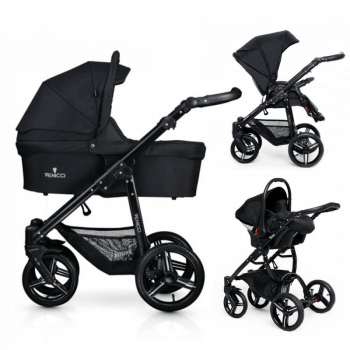 Venicci Soft 3-in-1 Travel System - Black / Black