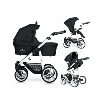 Venicci Soft 3-in-1 Travel System - Black / White