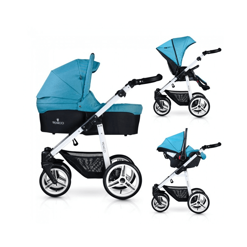 Compare retail prices of Venicci Soft 3-in-1 Travel System - Denim Sky / White to get the best deal online