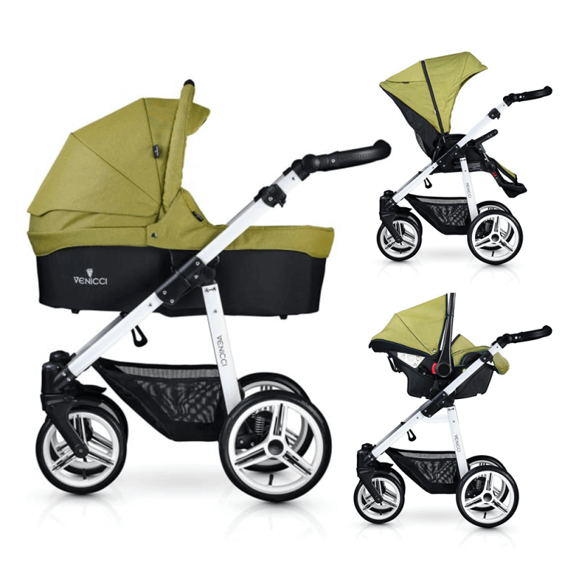 Compare retail prices of Venicci Soft 3-in-1 Travel System - Denim Green / White to get the best deal online
