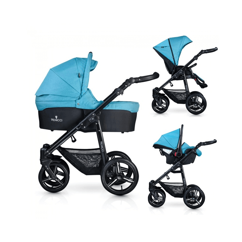 Compare retail prices of Venicci Soft 3-in-1 Travel System - Denim Sky / Black to get the best deal online