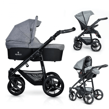 Venicci Soft 3-in-1 Travel System - Denim Grey / Black