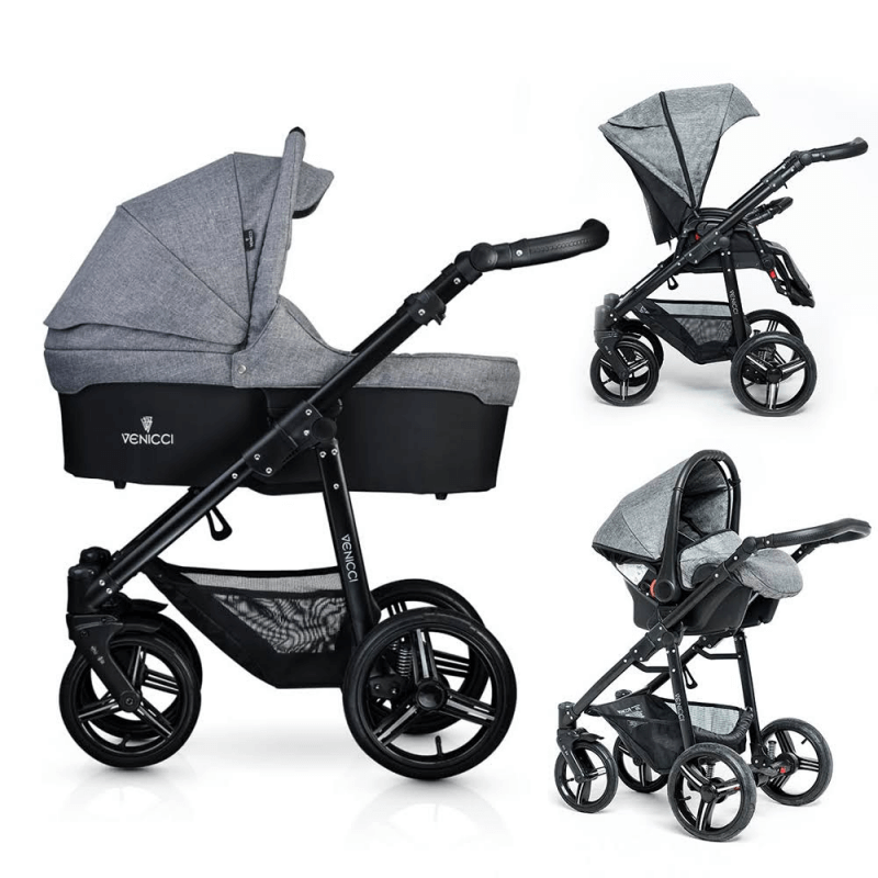 Compare retail prices of Venicci Soft 3-in-1 Travel System - Denim Grey / Black to get the best deal online