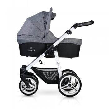Venicci Soft 3-in-1 Travel System - Denim Grey / White - Carrycot