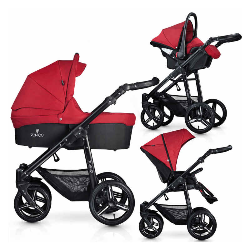 Compare retail prices of Venicci Soft 3-in-1 Travel System - Denim Red / Black to get the best deal online