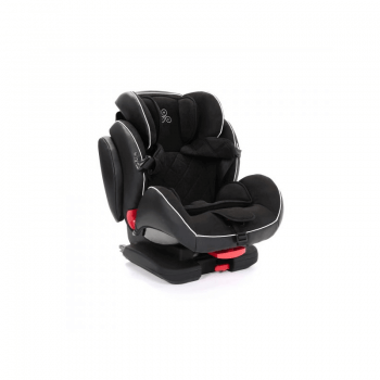 Ickle Bubba Solar Group 1/2/3 Car Seat - Black - Side