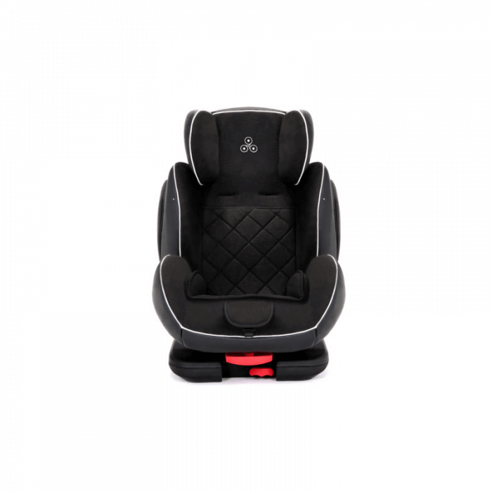 Ickle Bubba Solar Group 1/2/3 Car Seat - Black - Front