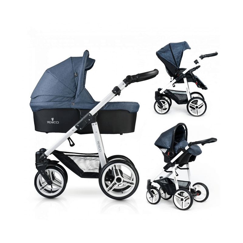 Compare retail prices of Venicci Soft 3-in-1 Travel System - Denim Blue / White to get the best deal online