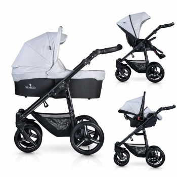 Venicci Soft Vento 3 in 1 Travel System - Light Grey & Black
