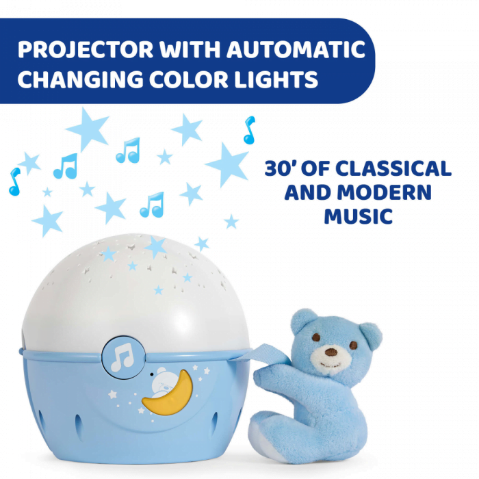 Chicco Next2Stars Baby Night Light Projector - Blue
