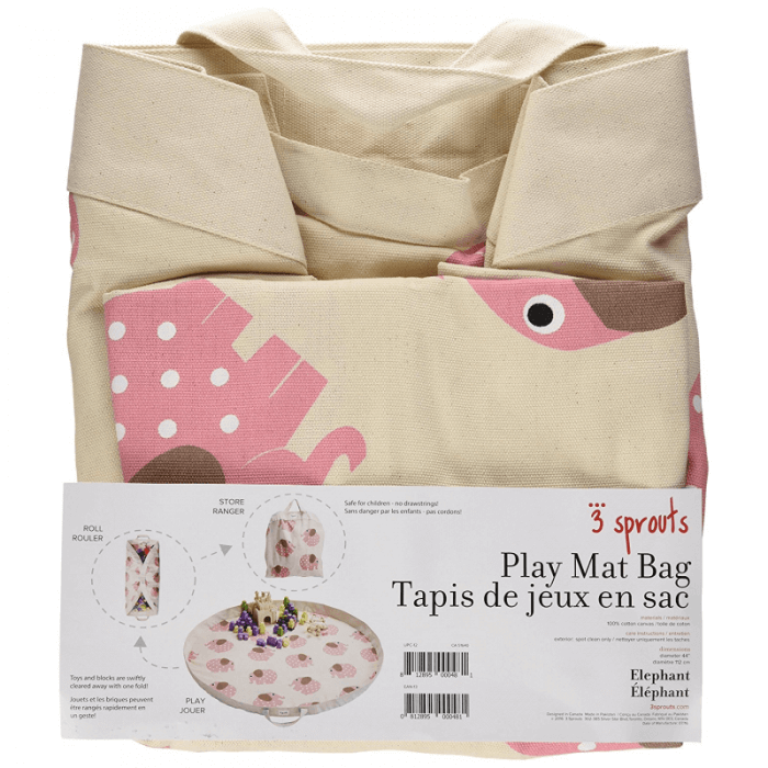 3 Sprouts Playmat Bag – Elephant Pack