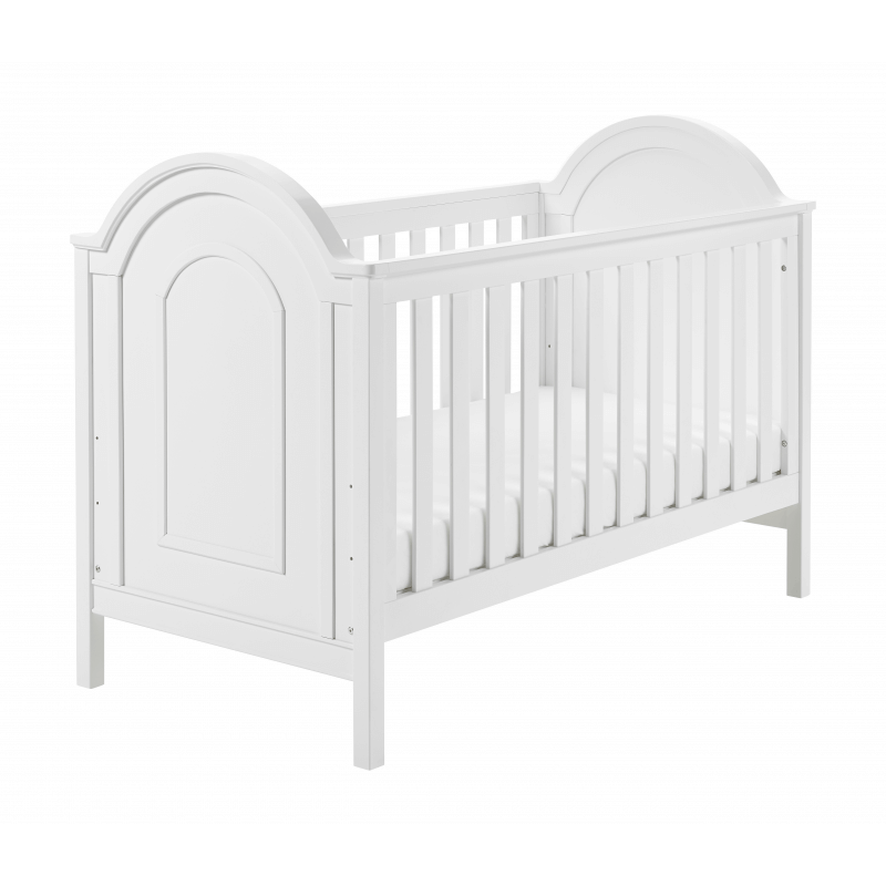 Compare retail prices of Babymore Albert Cot Bed - White to get the best deal online