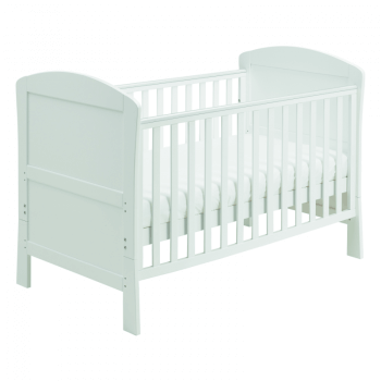 Aston Drop Side Cot Bed - White-3