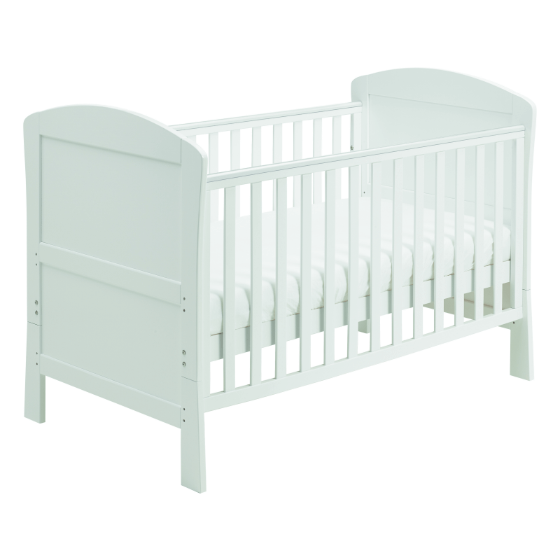 Compare retail prices of Babymore Aston Dropside Cot Bed - White to get the best deal online