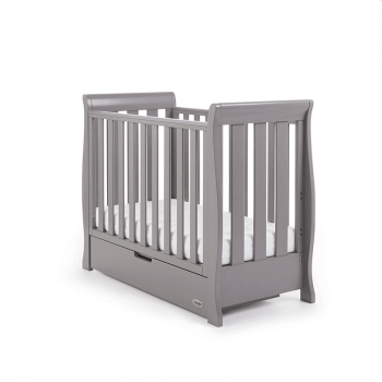 Obaby Stamford Space-Saver Sleigh Cot - Taupe Grey