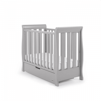 Obaby Stamford Space-Saver Sleigh Cot - Warm Grey
