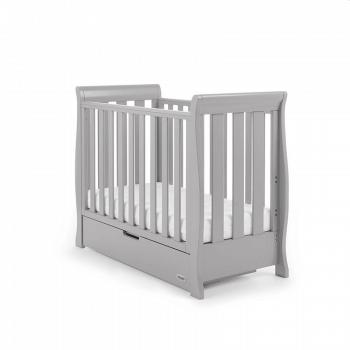 Obaby Stamford Space-Saver Sleigh Cot - Warm Grey