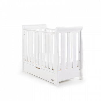 Obaby Stamford Space-Saver Sleigh Cot - White