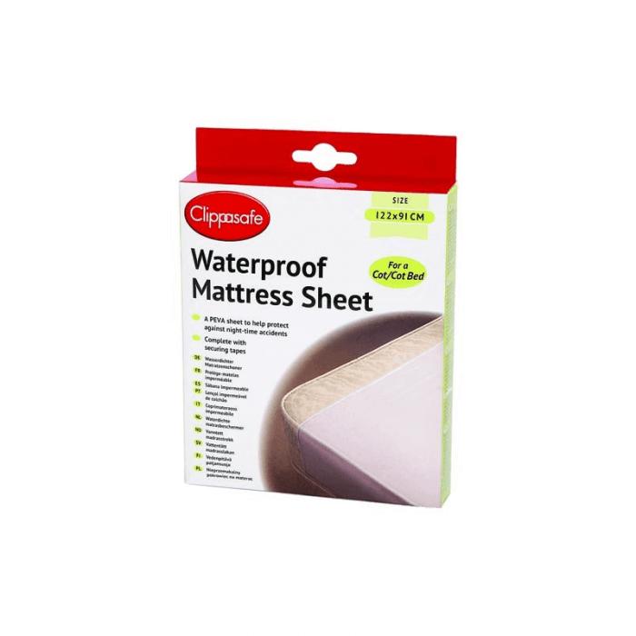 Clippasafe Waterproof Cot Bed Mattress Sheet