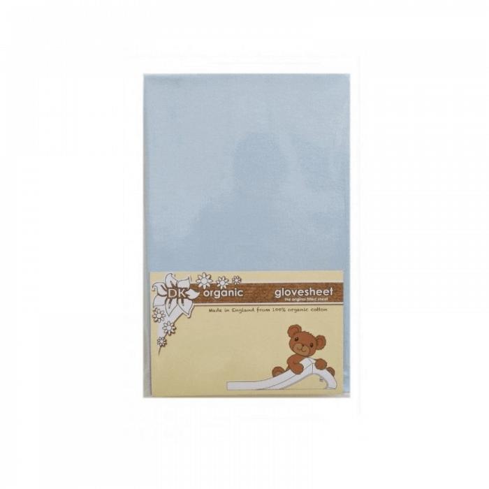 DK Glovesheet Organic Fitted Mattress Sheet (84cm x 51cm) - Blue