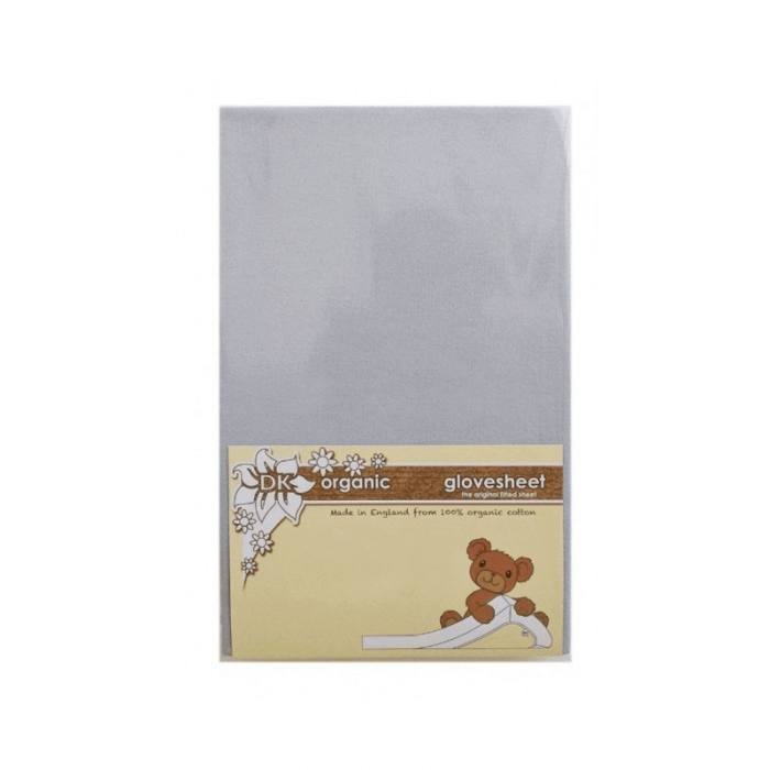 DK Glovesheet Organic Fitted Mattress Sheet (84cm x 51cm) - Grey
