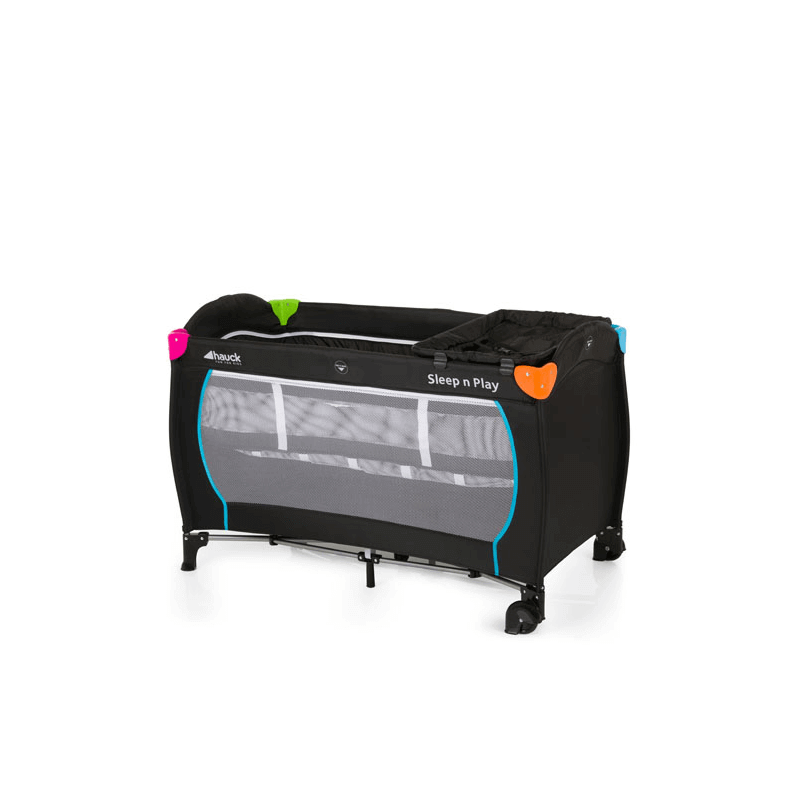 Hauck Sleep'n Play Center Travel Cot - Black and Multicolour