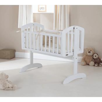 Obaby Sophie Swinging Crib - White - Lifestyle