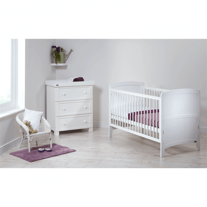 East Coast Venice Cot Bed - White - Lifestyle