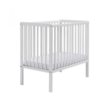 East Coast Carolina Space-Saving Cot & Mattress - White