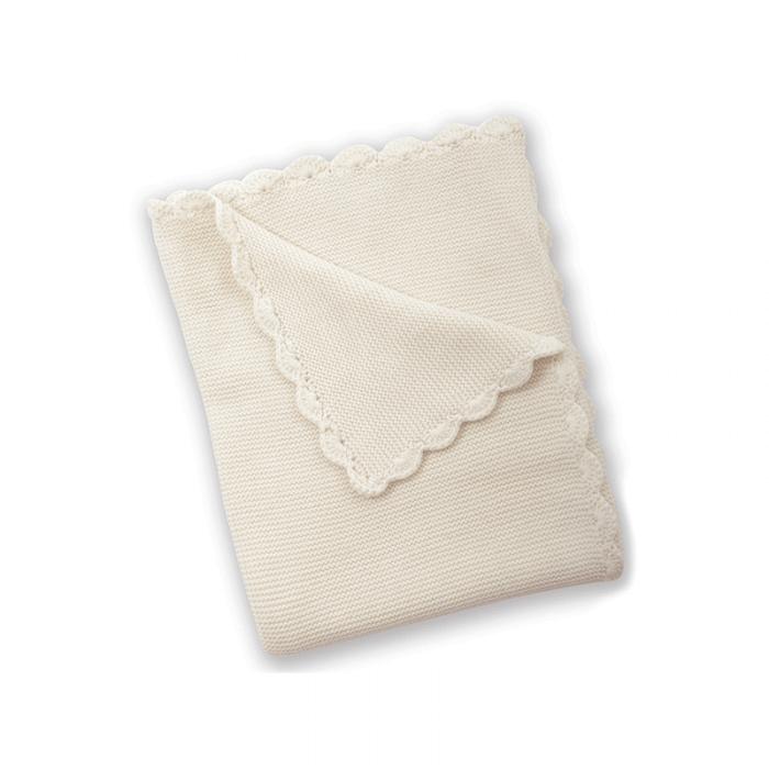 East Coast Knitted Blanket - Cream - Top