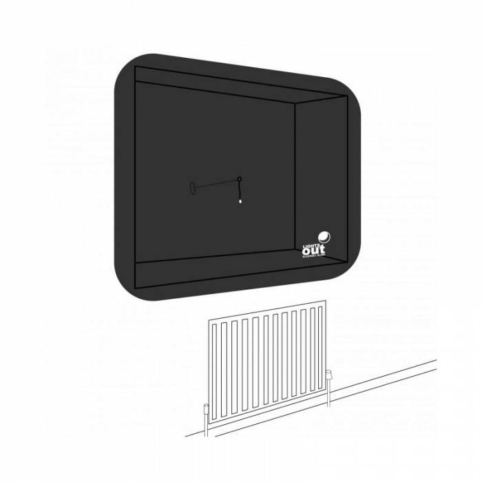 LightsOut XL Portable Pop-Up Blackout Blind - Side