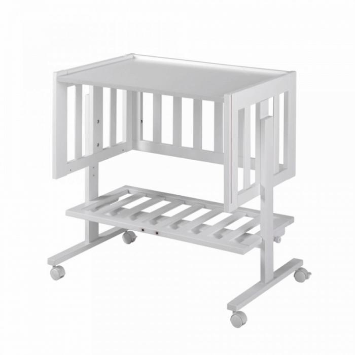 Lapsi Cododo Co-Sleeping Crib - White - Desk