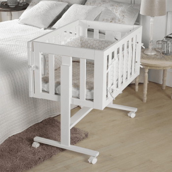 Lapsi Cododo Co-Sleeping Crib - White - Lifestyle