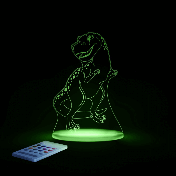 Aloka SleepyLights Nursery Night Light - T-Rex - Green