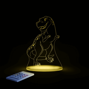 Aloka SleepyLights Nursery Night Light - T-Rex - Yellow