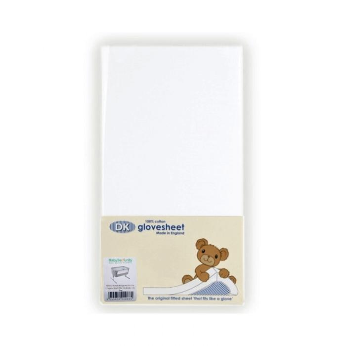 DK Glovesheet Fitted Mattress Sheet (84cm x 51cm) - White