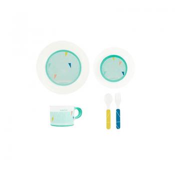 Babymoov Anti-Slip Feeding Set - Azur