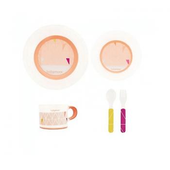 Babymoov Anti-Slip Feeding Set - Peach