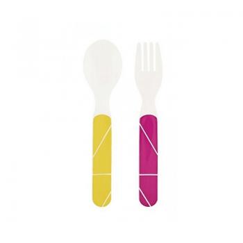 Babymoov Anti-Slip Feeding Set - Peach Cutlery