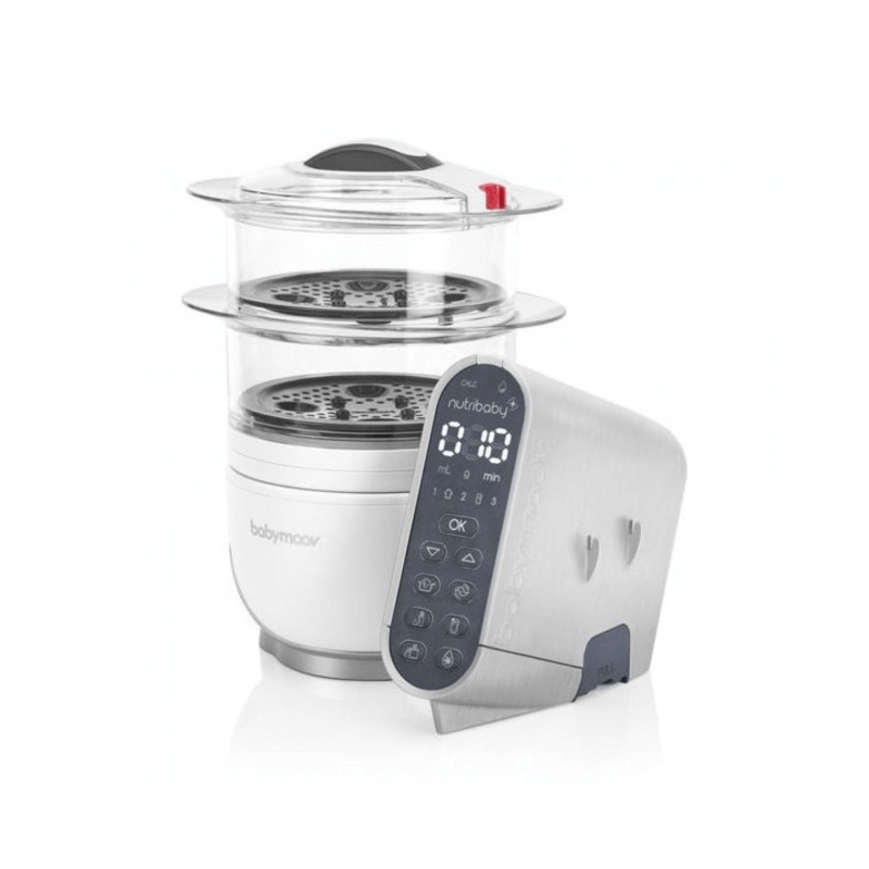 Compare retail prices of Babymoov Nutribaby Food Processor Cover - Brushed Aluminium to get the best deal online