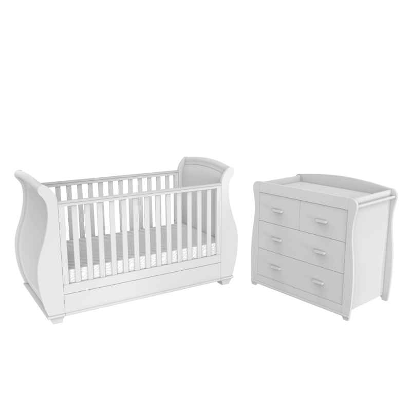 Compare retail prices of Babymore Bel 3 Piece Room Set - White to get the best deal online