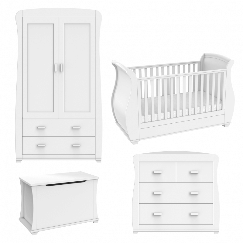 Compare retail prices of Babymore Bel 5 Piece Room Set - White to get the best deal online