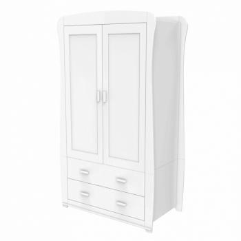 Babymore Bel Wardrobe - White-2