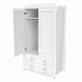 Babymore Bel Wardrobe - White-4