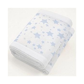 BreathableBaby Mesh Cot Liner - Twinkle Blue